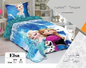 ست لحاف یکنفره پنبه دوزی مدل Elsa