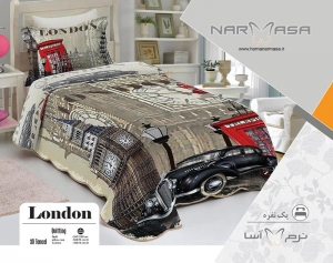 ست لحاف یکنفره پنبه دوزی مدل London