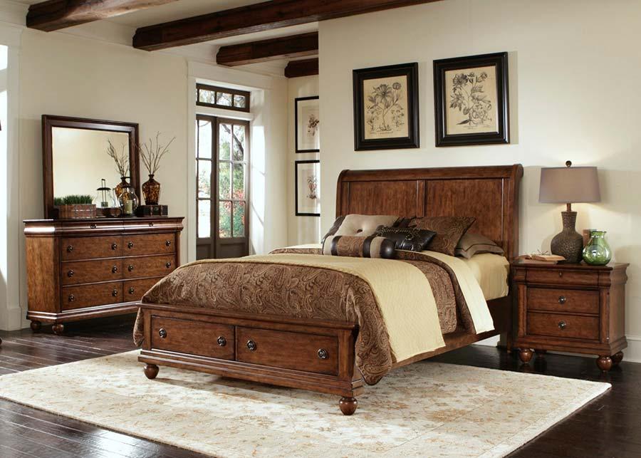 اتاق خواب چوبی